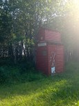 Most of the outhouses were built like grain elevators