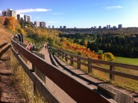 The Edmonton River Valley is really colourful in the fall.