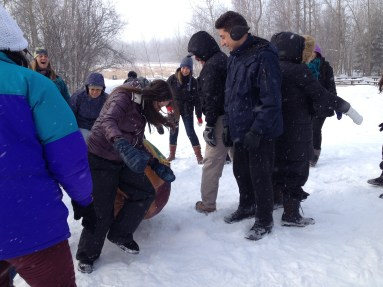 Fun with CCI students at Strathcona Wilderness Centre