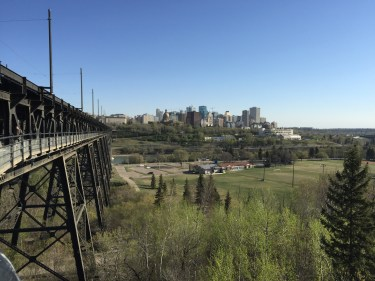 The High Level Bridge, connection between Old Strathcona & downtown