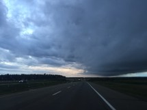 Angry skies, central Alberta