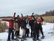 Snowshoeing fun at Strathcona Wilderness Centre