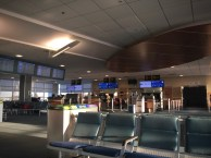 Departure gates for the small planes
