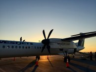 Plane tfrom Vancouver to Victoria was a propeller plane