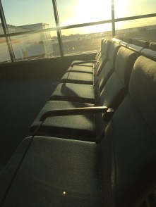 Comfy chairs in the Vancouver departure loung