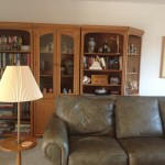 Wall unit before.