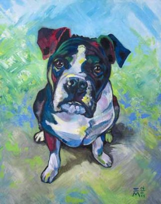 "SOLD: ""the Dog"" Acrylic"