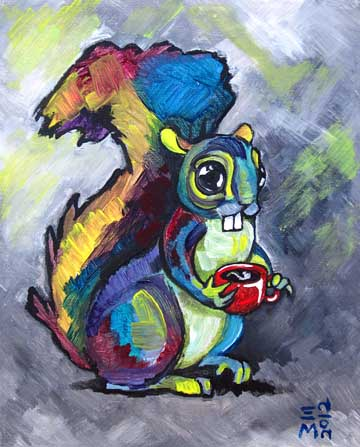 "SOLD: ""Coffee squirrel 1"""