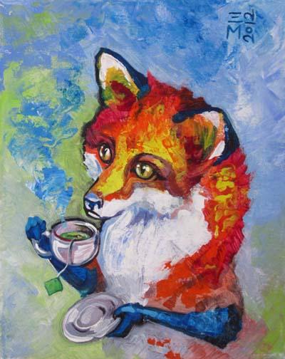 "SOLD: ""Tea Fox"""