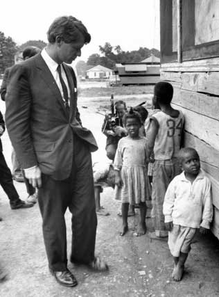 Sen. Robert F. Kennedy visits the Delta in 1967. Courtesy of the JFK Presidential Library.