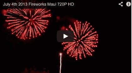 July 4th Maui Fireworks 2013