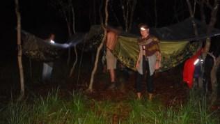 Installing our hammocks