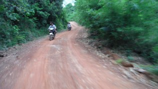 Deeper into the jungle on motorbike