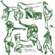 Street dancing poses
