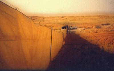 Inspiration from Christo and Jeanne-Claude's Valley Curtain