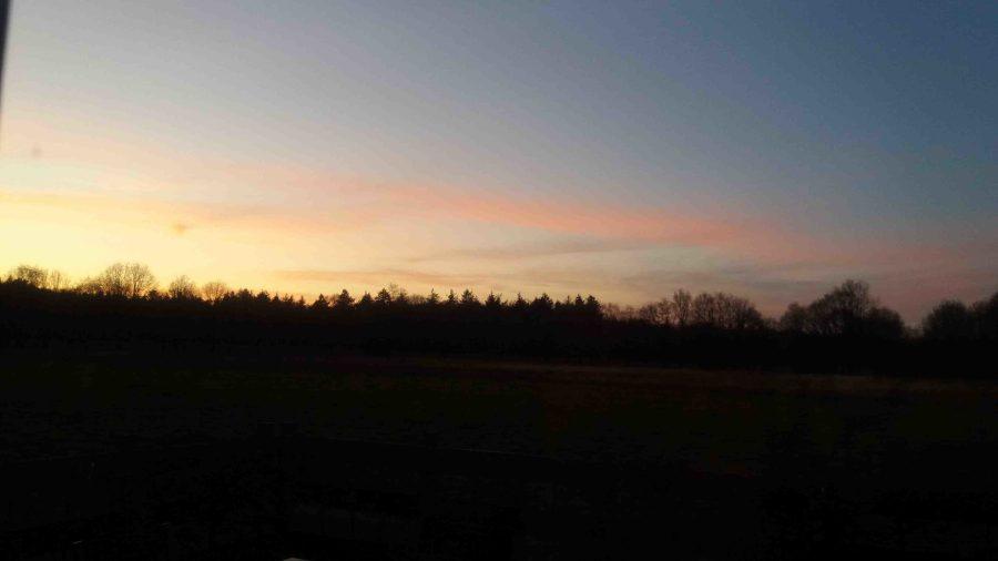 Zonsondergang in Drenthe eind maart 2020