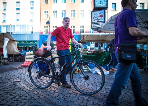 Bike beer holder
