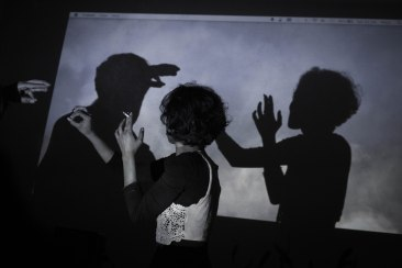 Shadow projector puppets