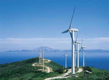 Windmills near Tarifa, Spain