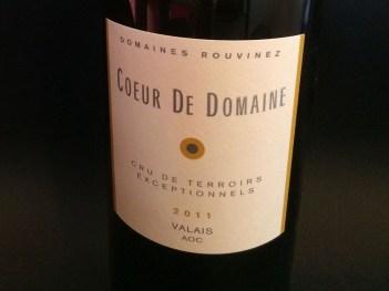 wine white blend Coeur du Domaine 2011 Rouvinez_210214