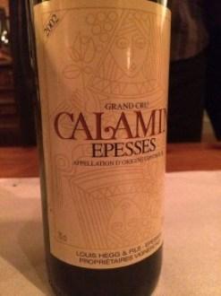 wine white Chasselas Calamin Hegg 2002