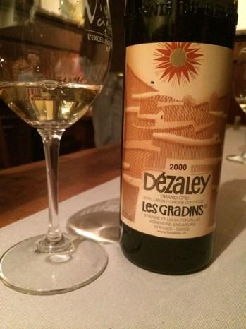 wine white Chasselas Dézaley Les Gradins 2000 EandL Fonjallaz_060314