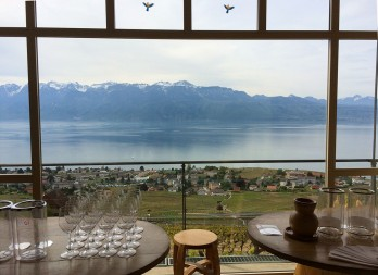 View of Lake Geneva, French Alps, from Crois Duplex