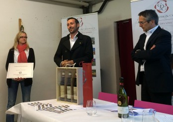 Maude and Simon Vogel of the Croix Duplex winery, André Fuchs, president of Clos, Domaines & Châteaux