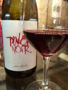 Anne Müller's Pinot Noir, tasted at her cellar in June 2014