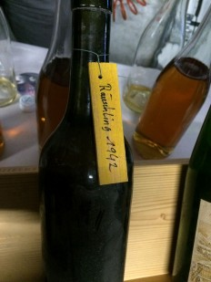 A 1942 Räuschling from the Schwarzenbach winery in Zurich, tasted 5 March