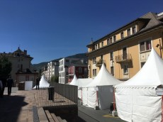 Pregnant tents, before the opening of Vinea 2016