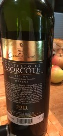 8 days post-surgery and it is time to crack open a nice bottle of red wine. A Merlot from Ticino, one of the most beautiful vineyards in that canton, is just right.