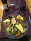 Mmmm, a perfect foie gras salad with a Syrah-Grenache Côtes du Rhône