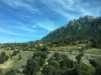 Sardinia Oliena granite hills sparse vineyards_191016