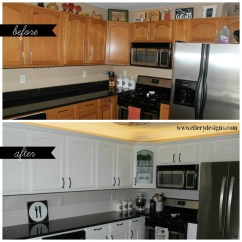 Diy Kitchen Cabinet Braun Appliances Our Remodel Painting Your Cabinets White Ellery Designs Best Way To Paint Www Ellerydesigns Com