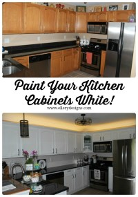 Our DIY Kitchen Remodel - Painting Your Cabinets White ...