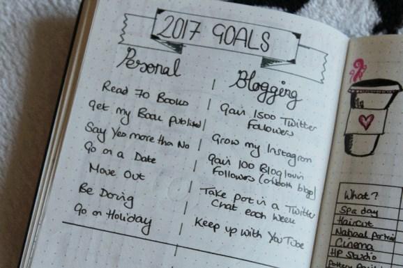 Bullet Journal 2017 Goals