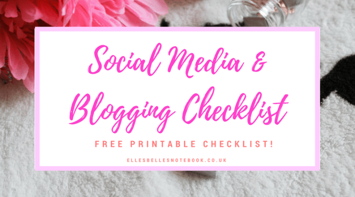 Social Media & Blogging Checklist 1