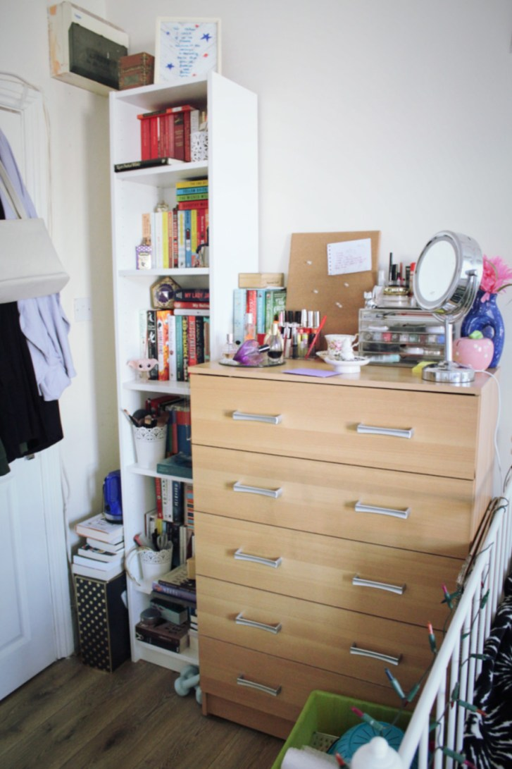 Bookcase and drawers