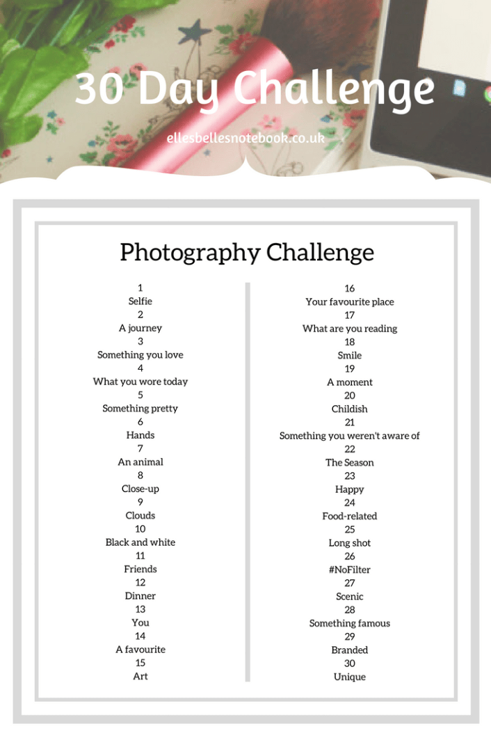 Photography 30 day challenge
