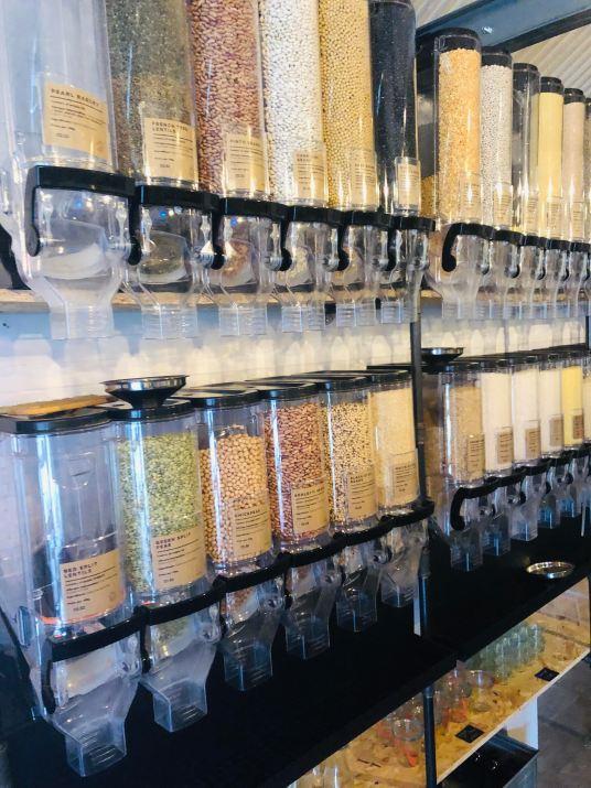 Bulk market bins zero waste