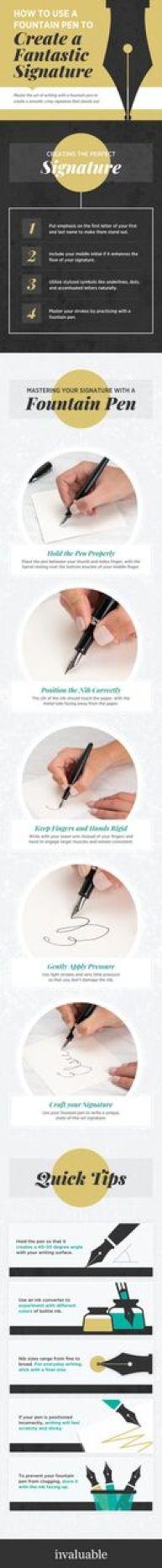 Fountain pen infographic
