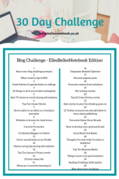 30 Day Blog Challenge - EllesBellesNotebook