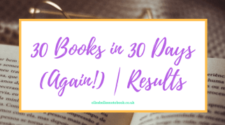 30 Books in 30 Days (Again!)   Results