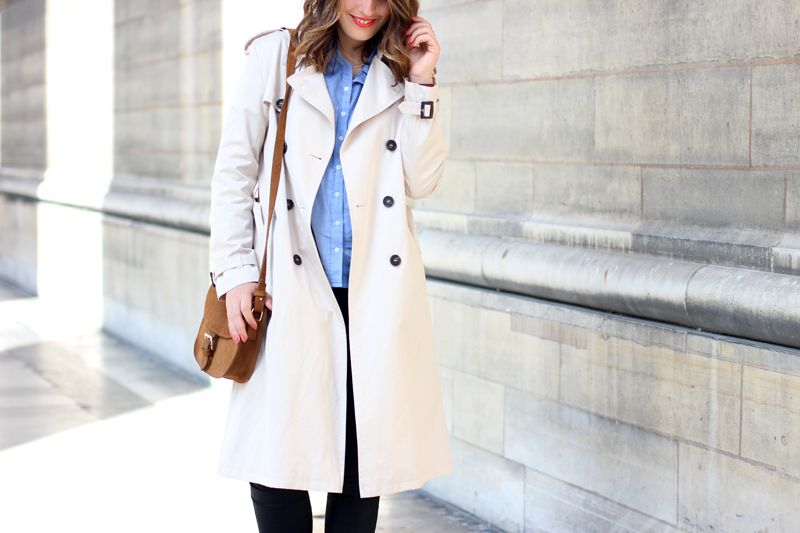 manteau trench and coat
