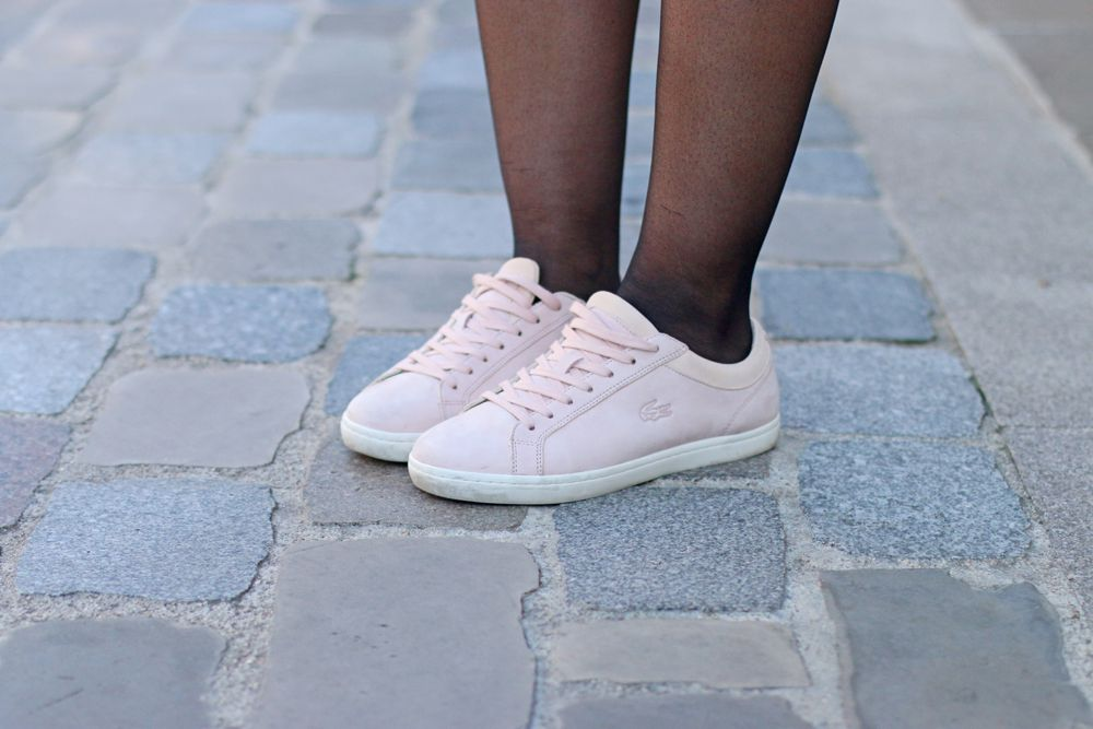 baskets lacoste rose