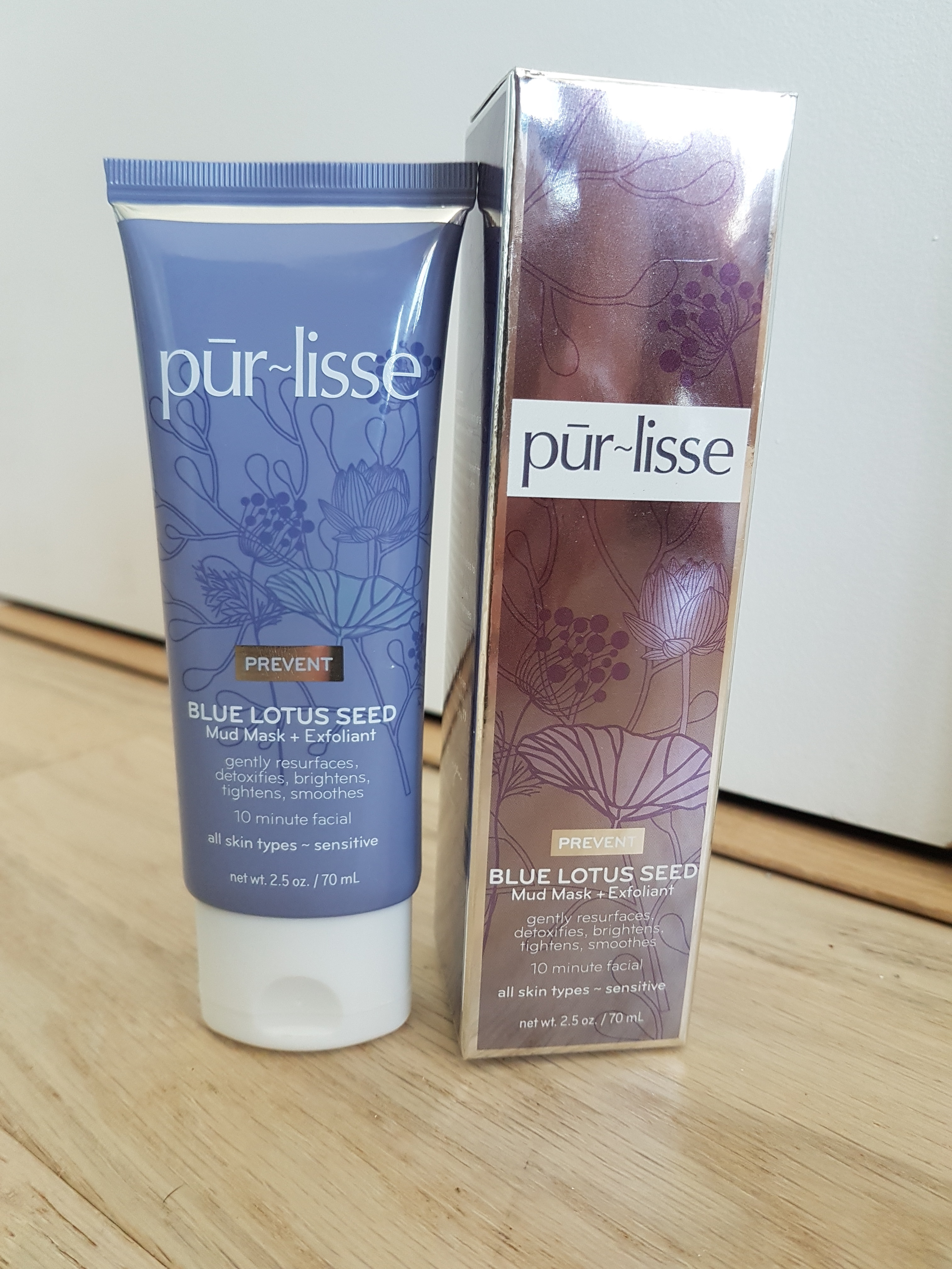 Purlisse- Blue Lotus Seed Mud Mask + Exfoliant Review