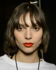 One of the scarier trends to try in 2018, we guarantee you'll be seeing bobs with fringes everywhere. Round face? Never fear, the look is surprisingly wearable, just avoid a blunt cut block fringe and opt for an undone situation instead. It looks way more casual. 'I like to keep my own fringe on the longer side, below my eyebrows which is a lot more versatile,' says Kim K's BFF and hairstylist Jen Atkin. 'If you decide you don't like it anymore you can just tuck it away behind your ears.Also, always go for a lighter fringe, a block fringe can feel heavy with a lob.'