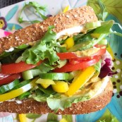 Mega Monster Vegetable Sandwich