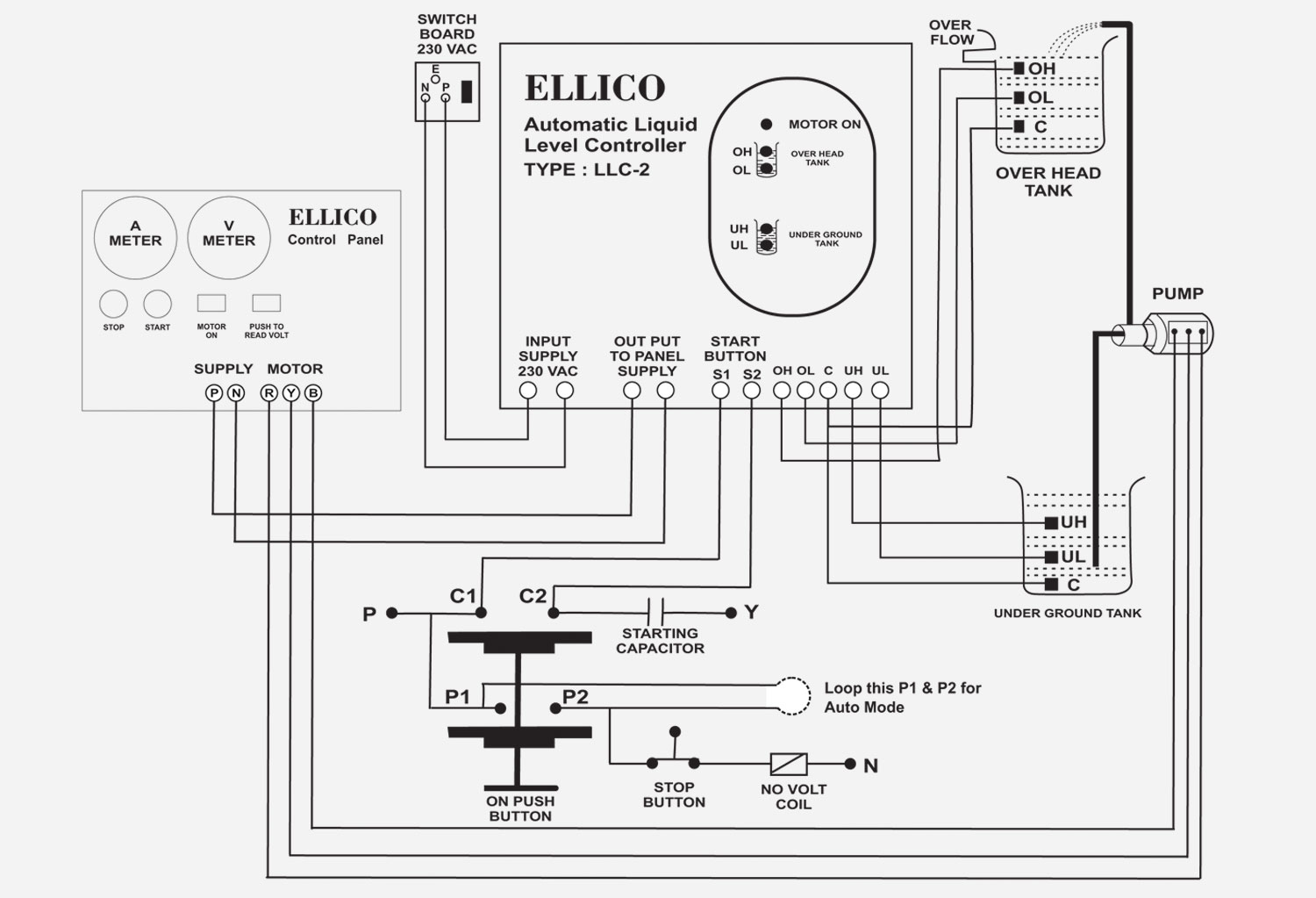 liquid level controller circuit diagram msd 7al wiring ellico water 44